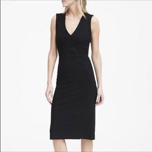 Classic and flattering BR v-neck sheath dress